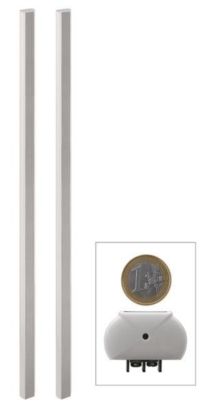 Das ETS-120SL/WS von Monacor ist ein ungewöhnlich schlankes Lautsprechersystem.