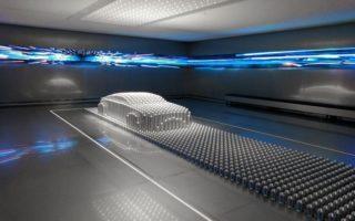 Hyundai Motorstudio Goyang. Ausstellungsbereich 'Design'. Kinetische Skulptur.