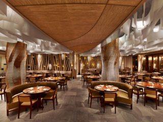 Der Restaurantbereich des japanischen Sterne-Fusion-Kochs Nobu Matsuhisa.