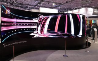 Dual-View Curved Tiling OLED Displaywand