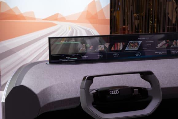 Transparentes Display in Audi-Konzeptstudie