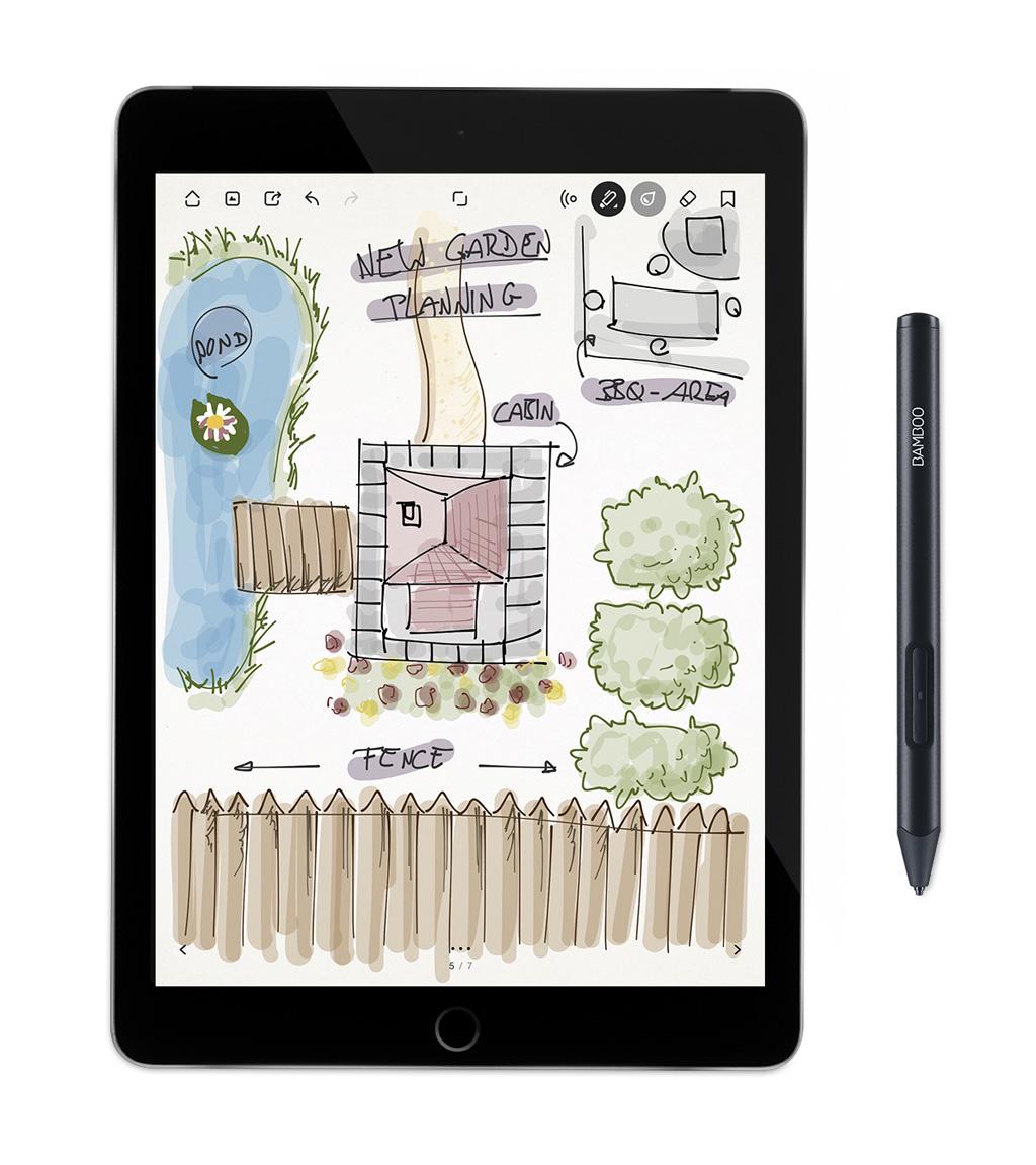 Bamboo Sketch auf dem iPad
