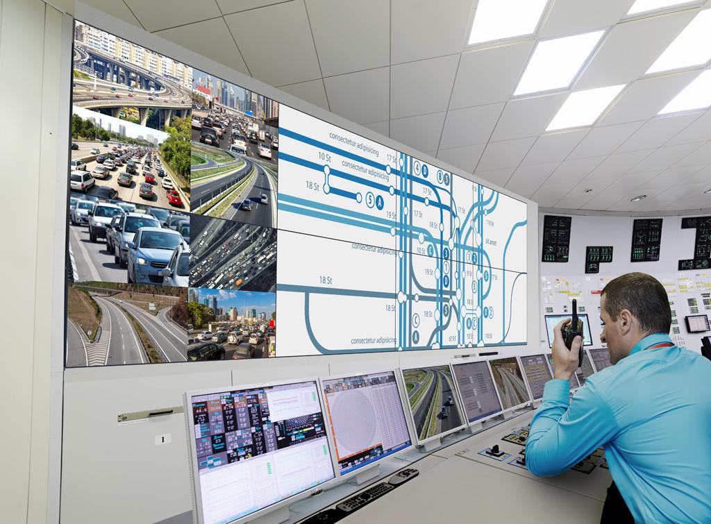 Anwendungsbeispiel für LCD-Videowalls in Kontrollräumen