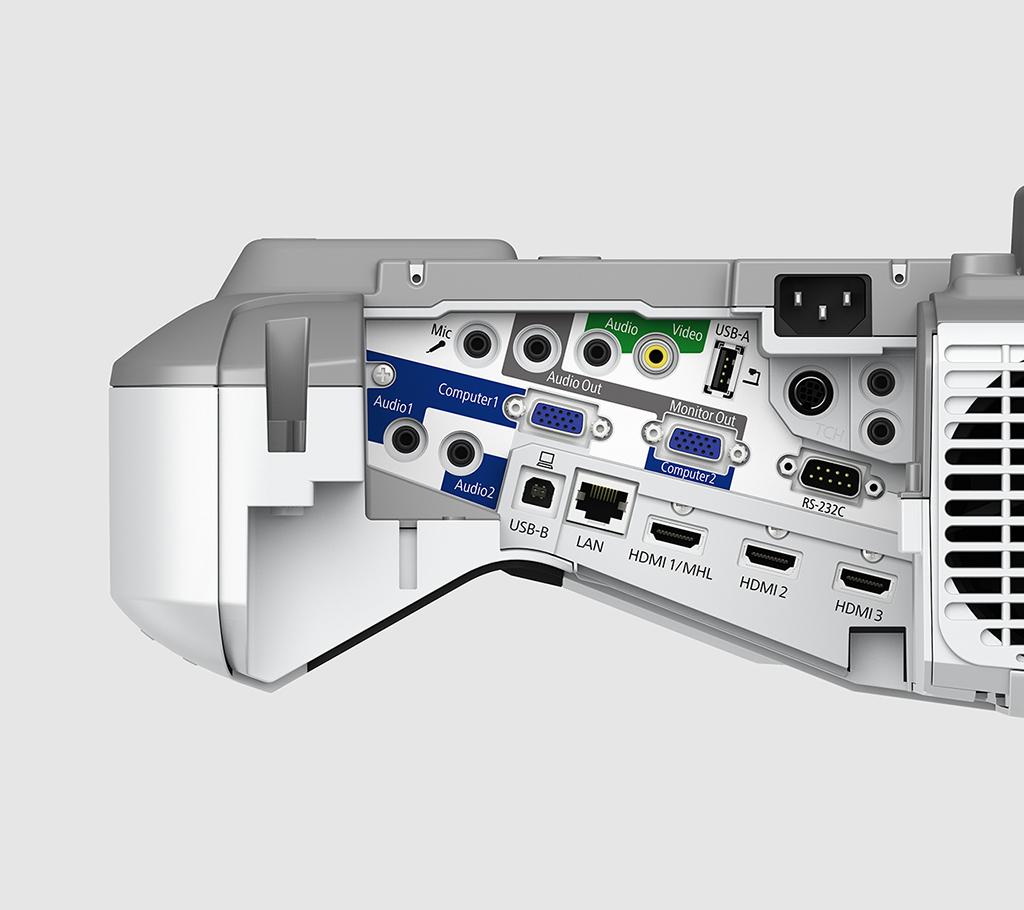 Anschlüsse Epson Ultrakurzdistanzprojektor