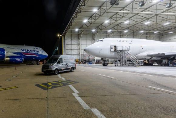 Deutsche Lichtmiete Hangar der HAITEC Aircraft Maintenance GmbH