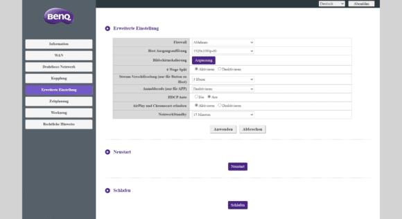 Screenshot InstaShow WDC20 System BenQ