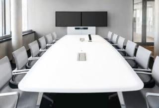 Medienmöbel für Videoconferencing