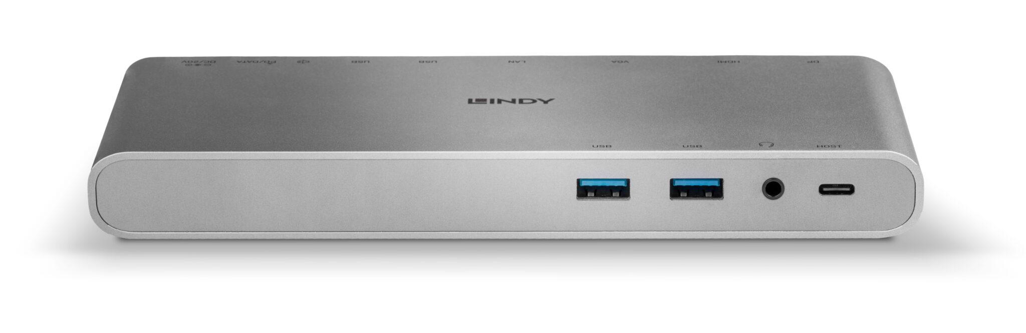 USB 3.1 Typ C Notebook Docking Station 43226 Frontansicht