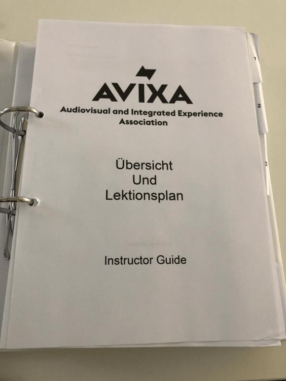 Students Guide der AVIXA