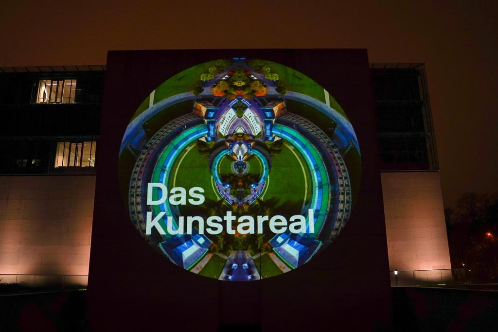 Projektionsmapping auf dem Kunstareal