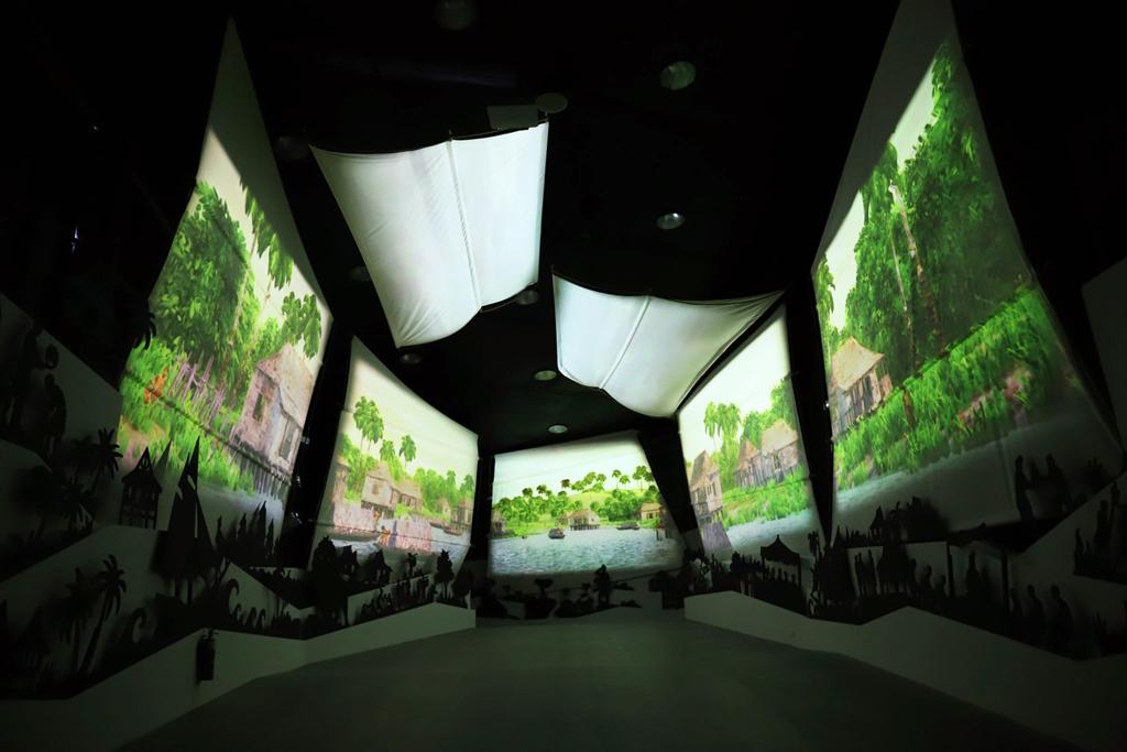 Projektion im Museeum