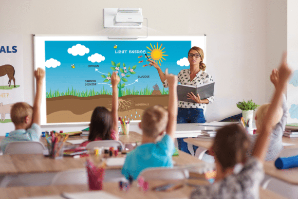 Interaktive Projektion Schule