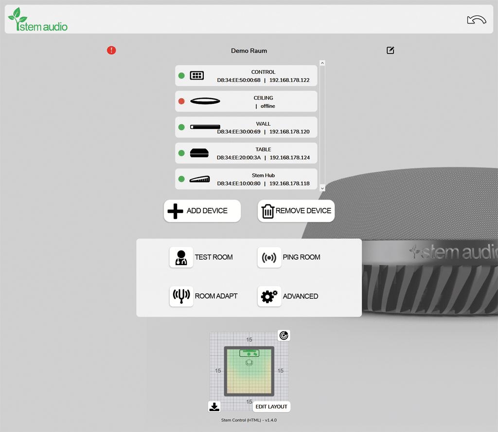 Übersichtsanzeige Screenshot