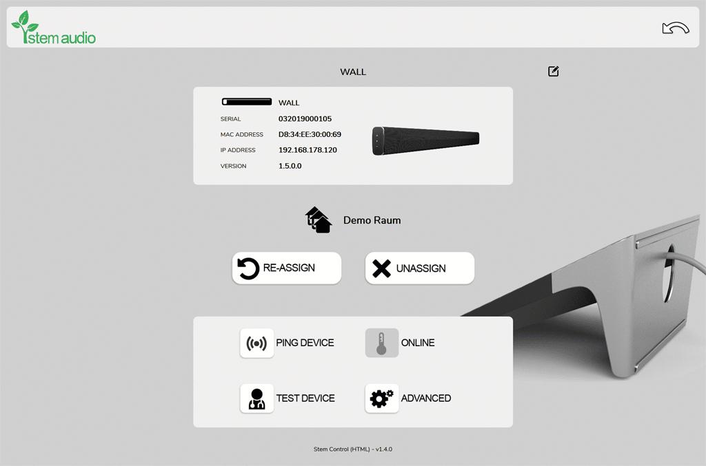 Gerätebildschirm Software