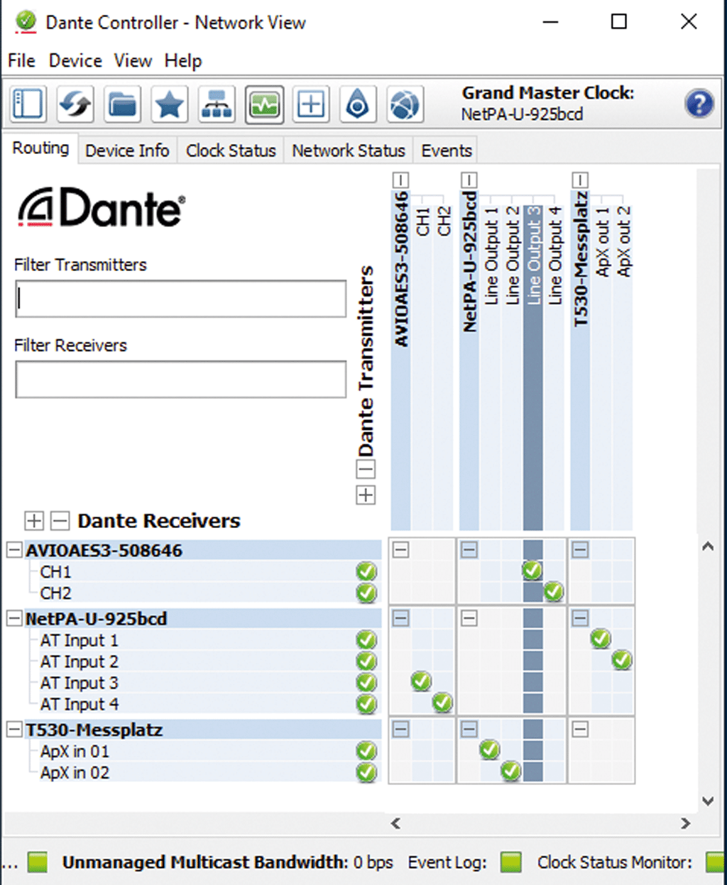 NetPA U 1004 im Dante Controller