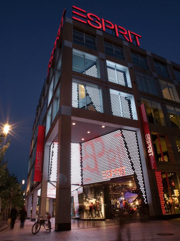 Esprit Medienfassade auf der Zeil in Frankfurt am Main