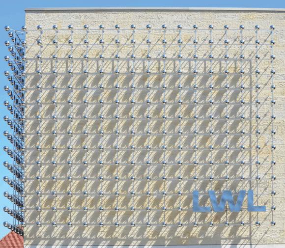 420 Edelstahlkugeln Landesmuseum Münster