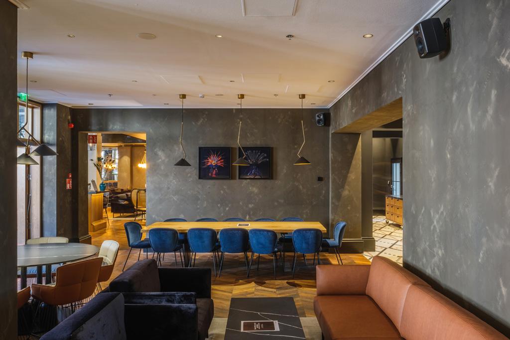 Hotelinnenräume mit Genelec Audiosystem