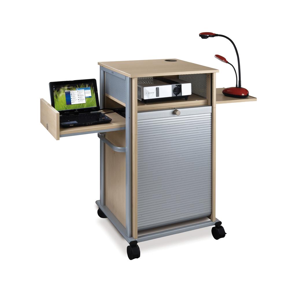 Medienwagen mit Laptop, Beamer und Lampe