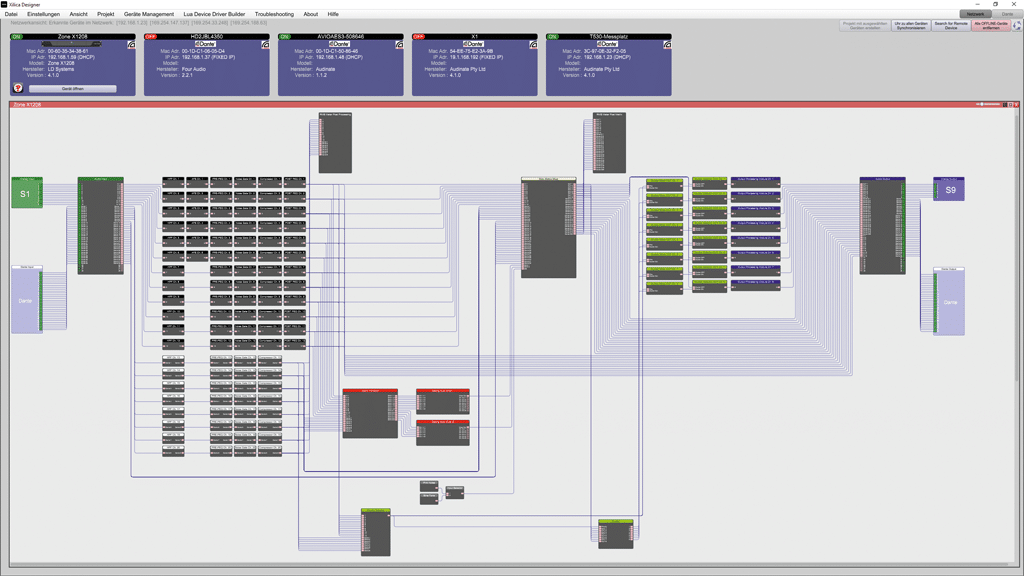 Screenshot Xilica Designer Software