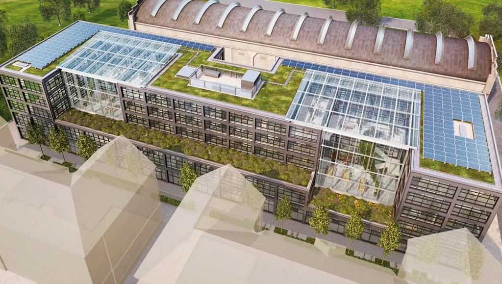Konzept des neuen Gebäudes des Munich Urban Colab